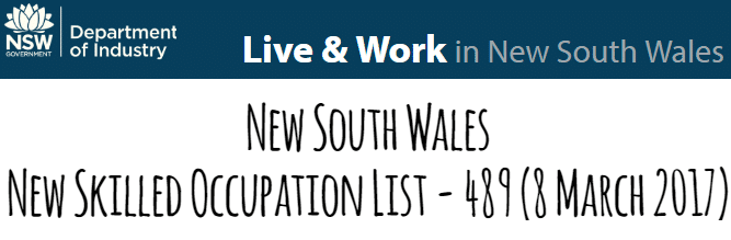 NSW Skilled Occupation Lists | Get Your Visa