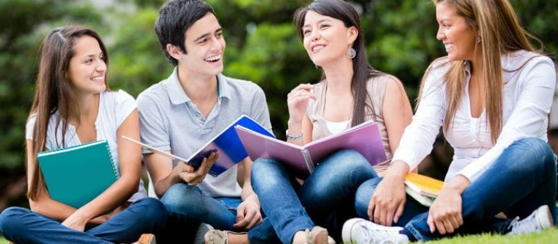 IELTS Students Studying